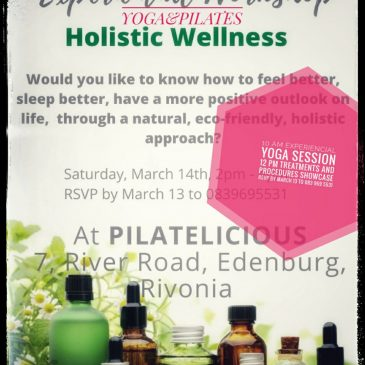Experiential Workshop Holistic Wellness 14 March 2020